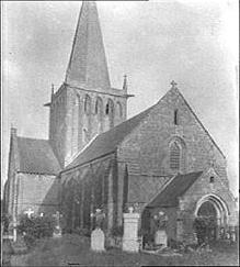 Église Saint-Étienne au début du 20e siècle.