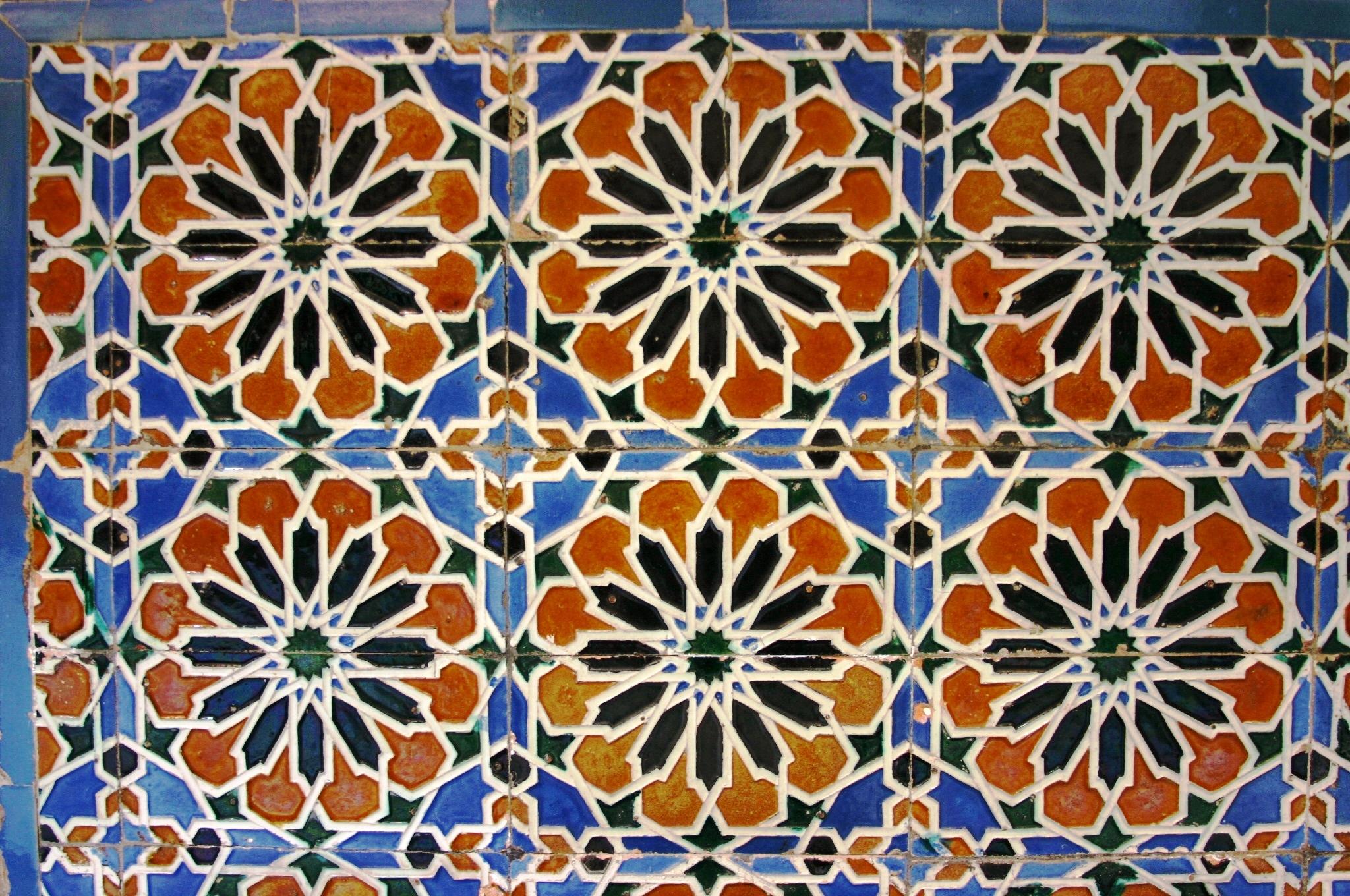 Azulejos geom tricos antiguos en el palacio de lebrija for Azulejos clasicos