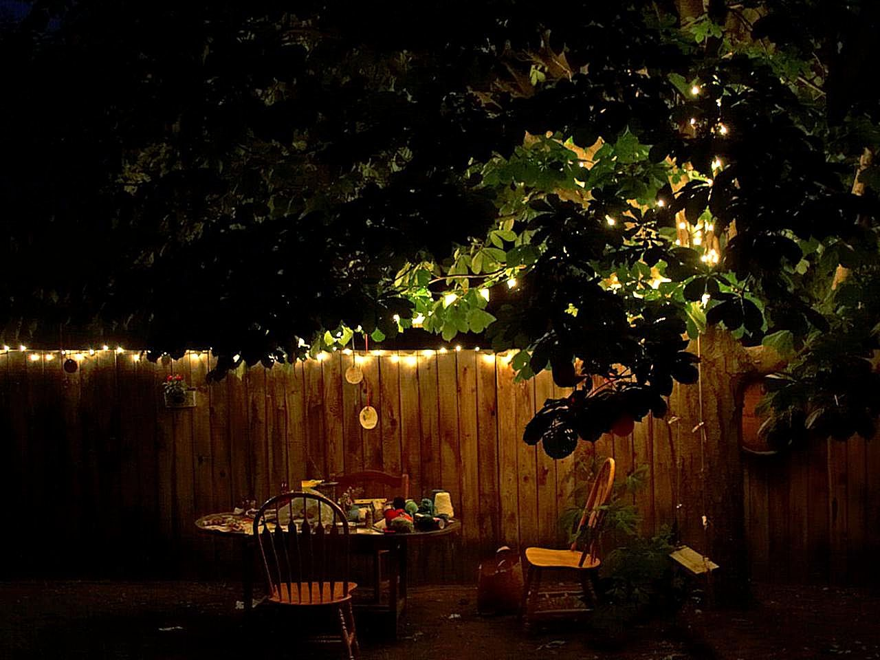 File Backyard table at night Wikimedia mons