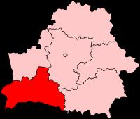 Брестская область на карте
