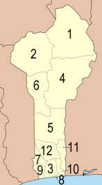Departments of Benin