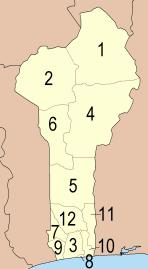 Департаменты Бенина