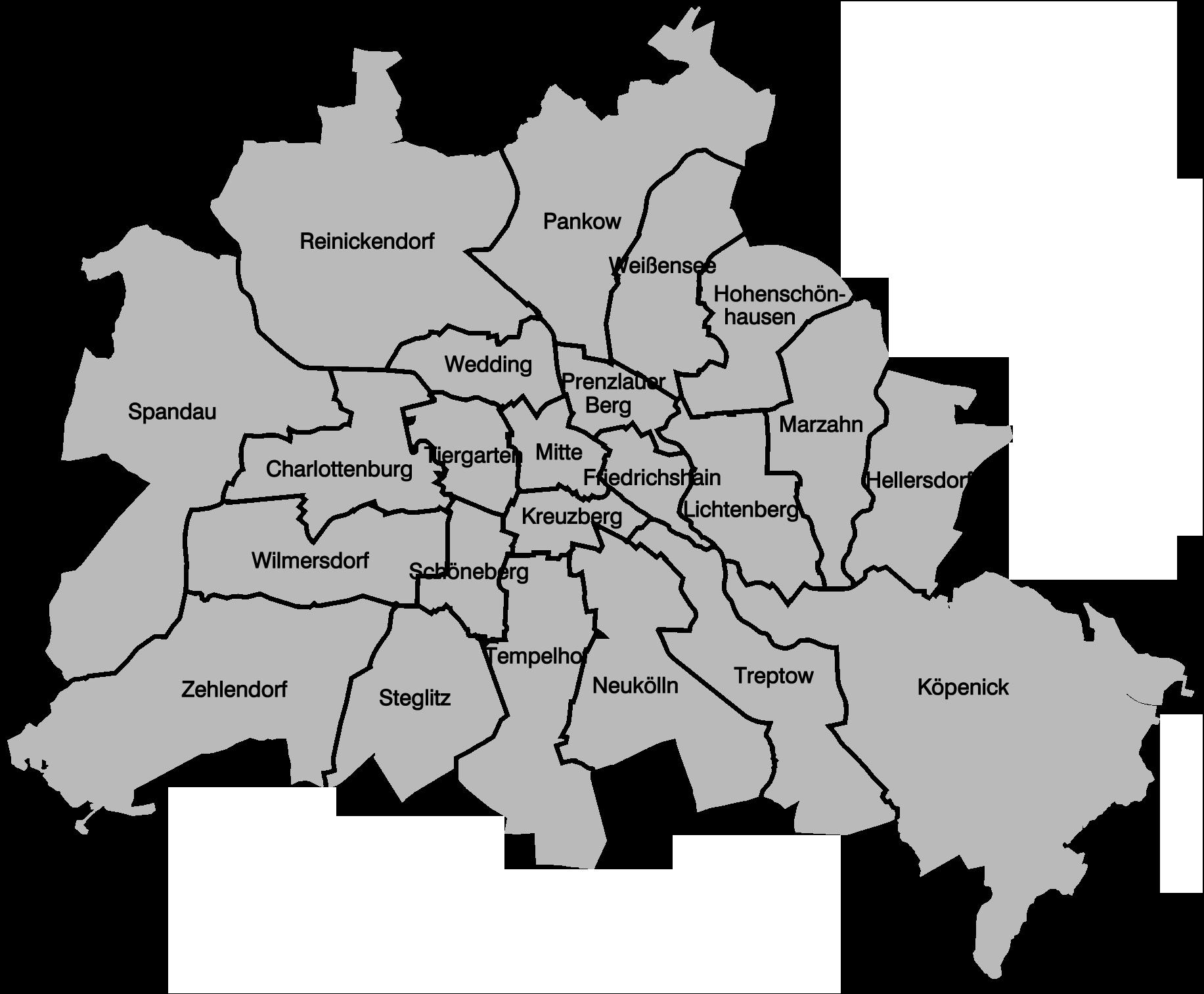 berlin stadtteile karte Liste der Verwaltungsbezirke Berlins seit 1920 – Wikipedia