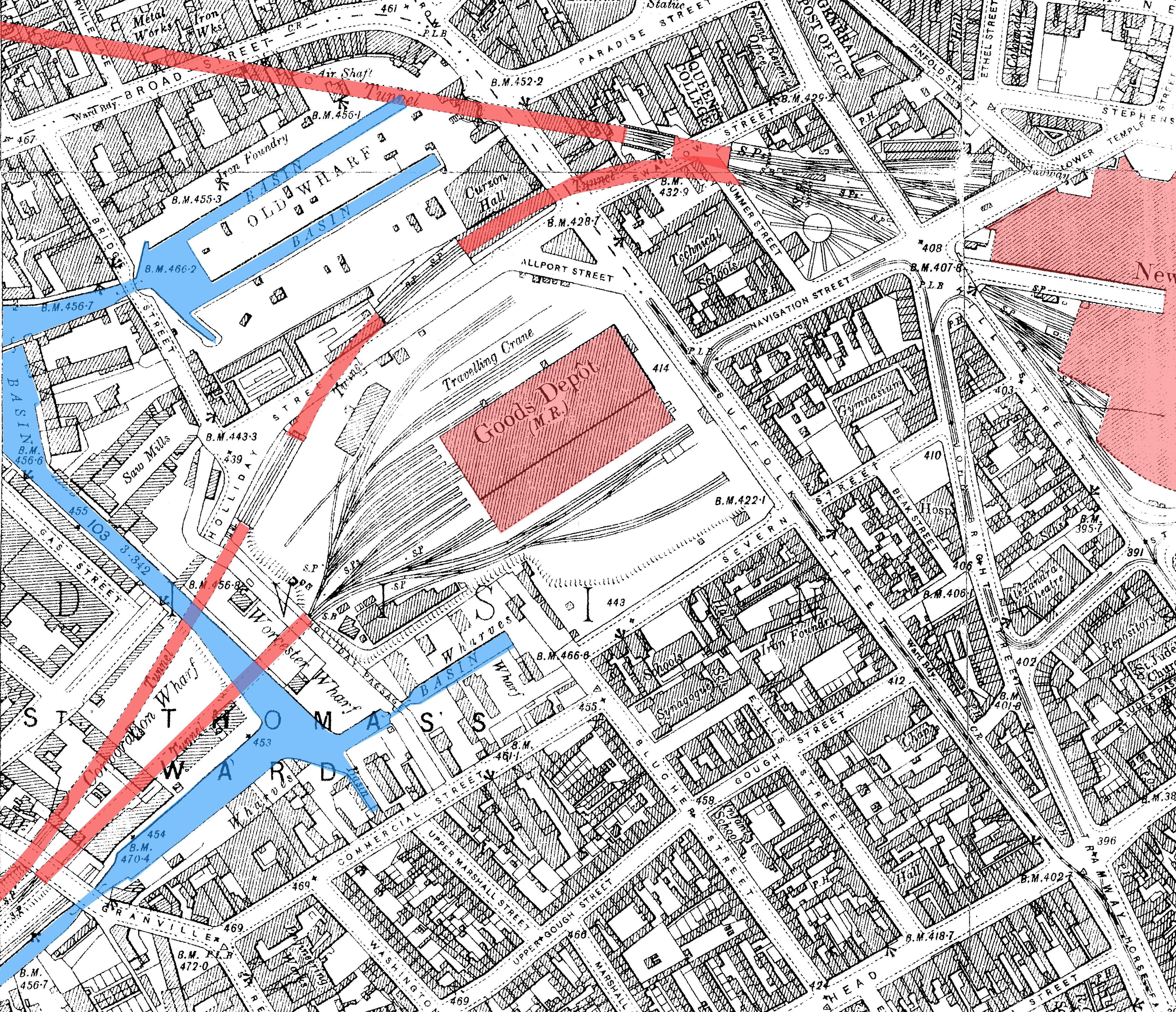 FileBirmingham Worcester Wharf Central Goods Depot OS map 2nd