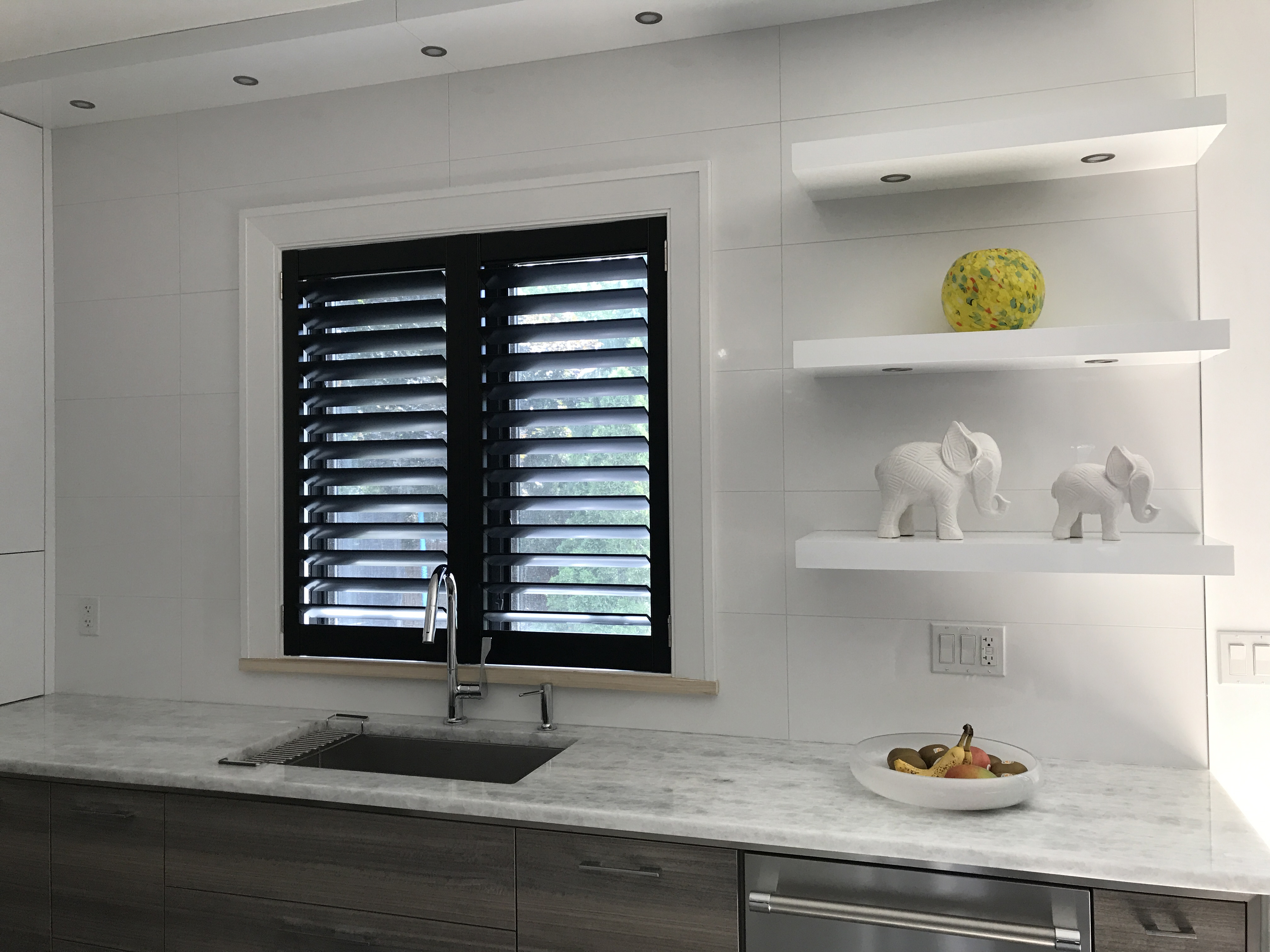 File Black Custom California Shutters Fitted To A Kitchen