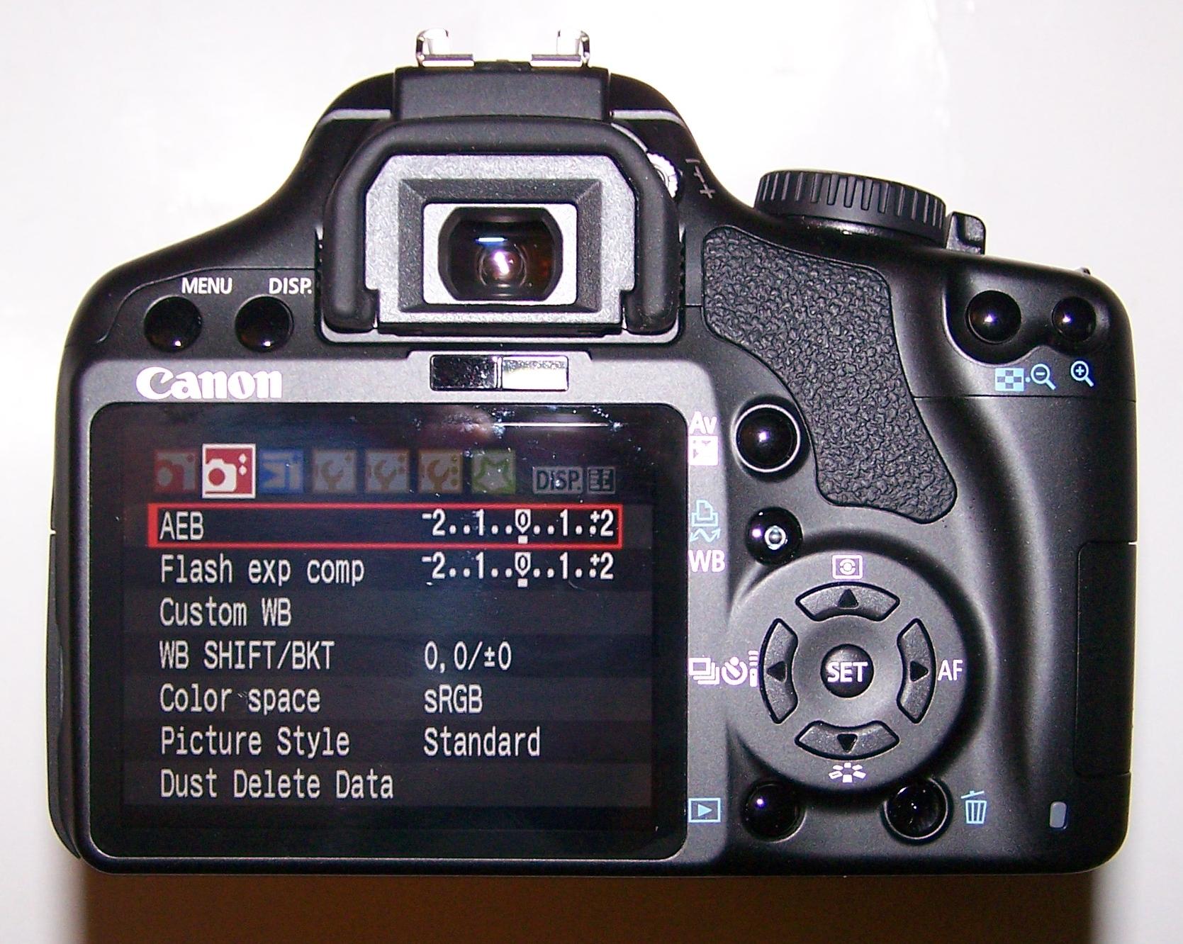 Настраиваем фотоаппарат стиль изображения
