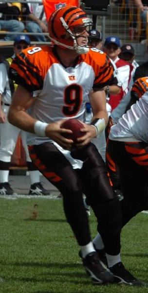 Palmer playing against the Pittsburgh Steelers in 2006 Carson Palmer 2006.jpg