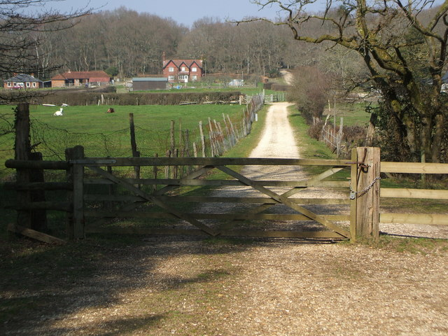 Cycle route past Denny Lodge. - geograph.org.uk - 381020