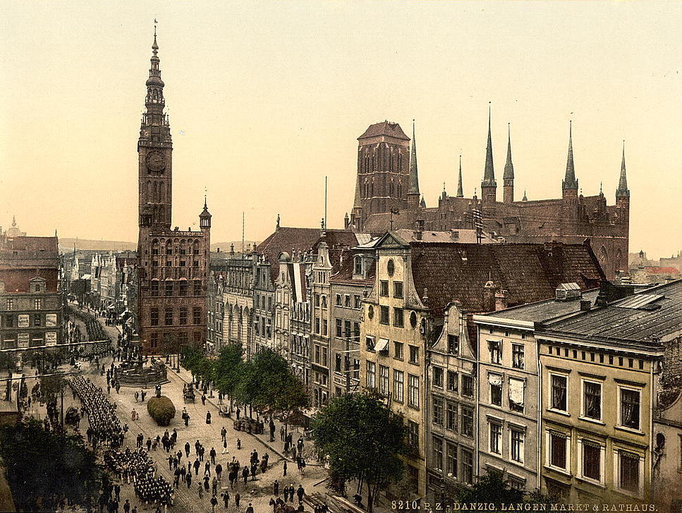file danzig langen markt und rathaus 1890 1900 jpg wikimedia commons. Black Bedroom Furniture Sets. Home Design Ideas