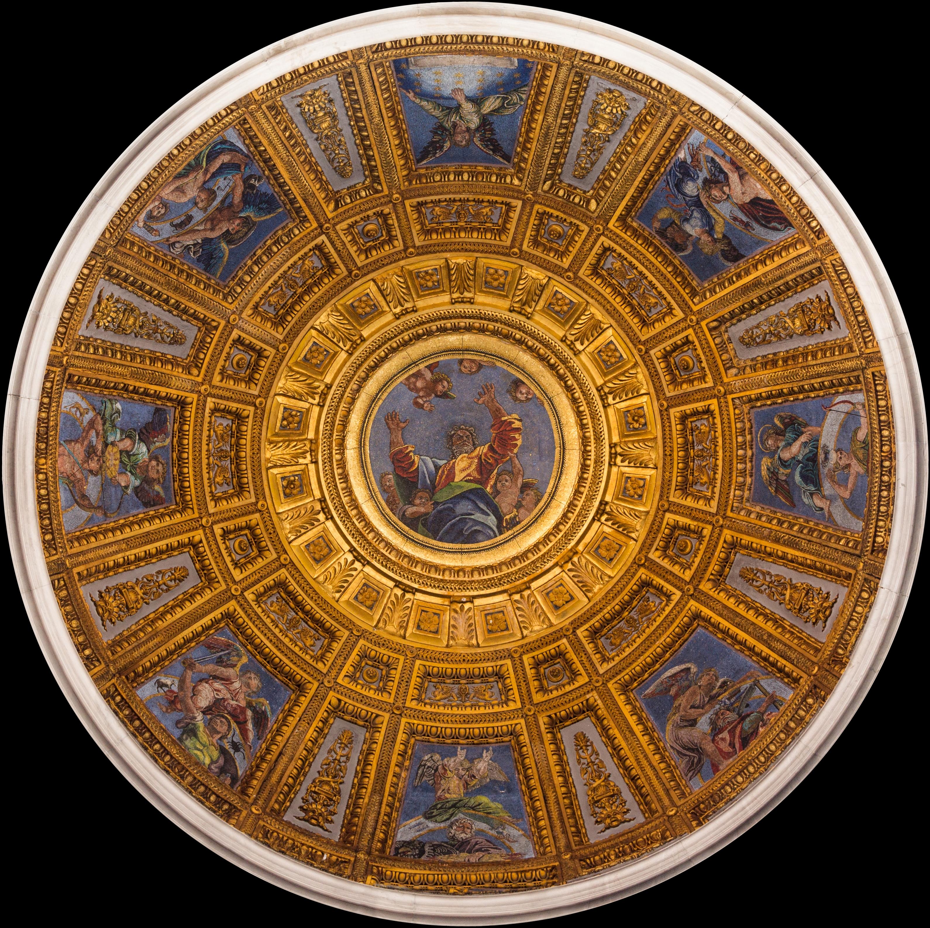 File dome cappella chigi from inside santa maria del for Art du monde