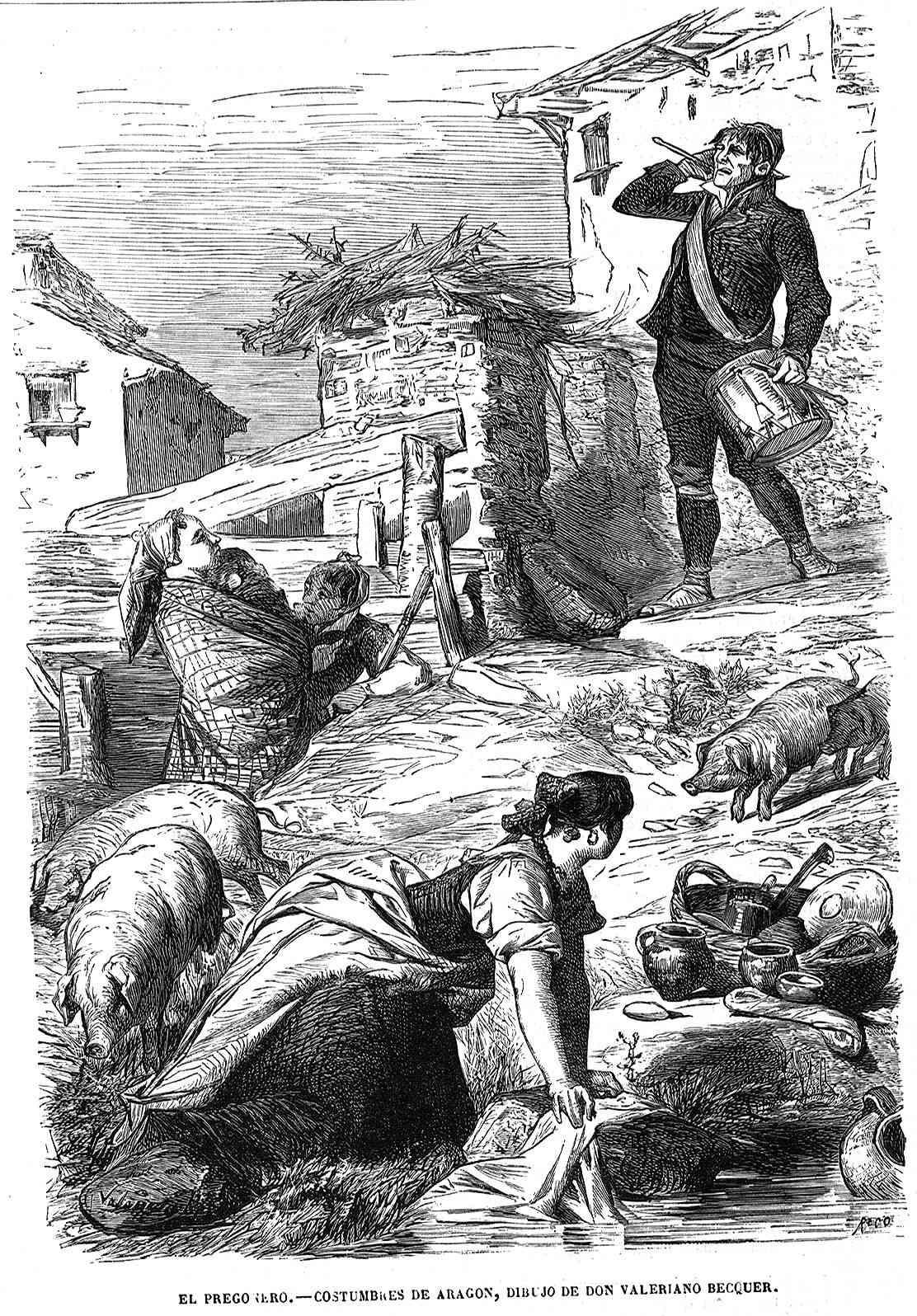 Valeriano Becquer: El pregonero (1865)