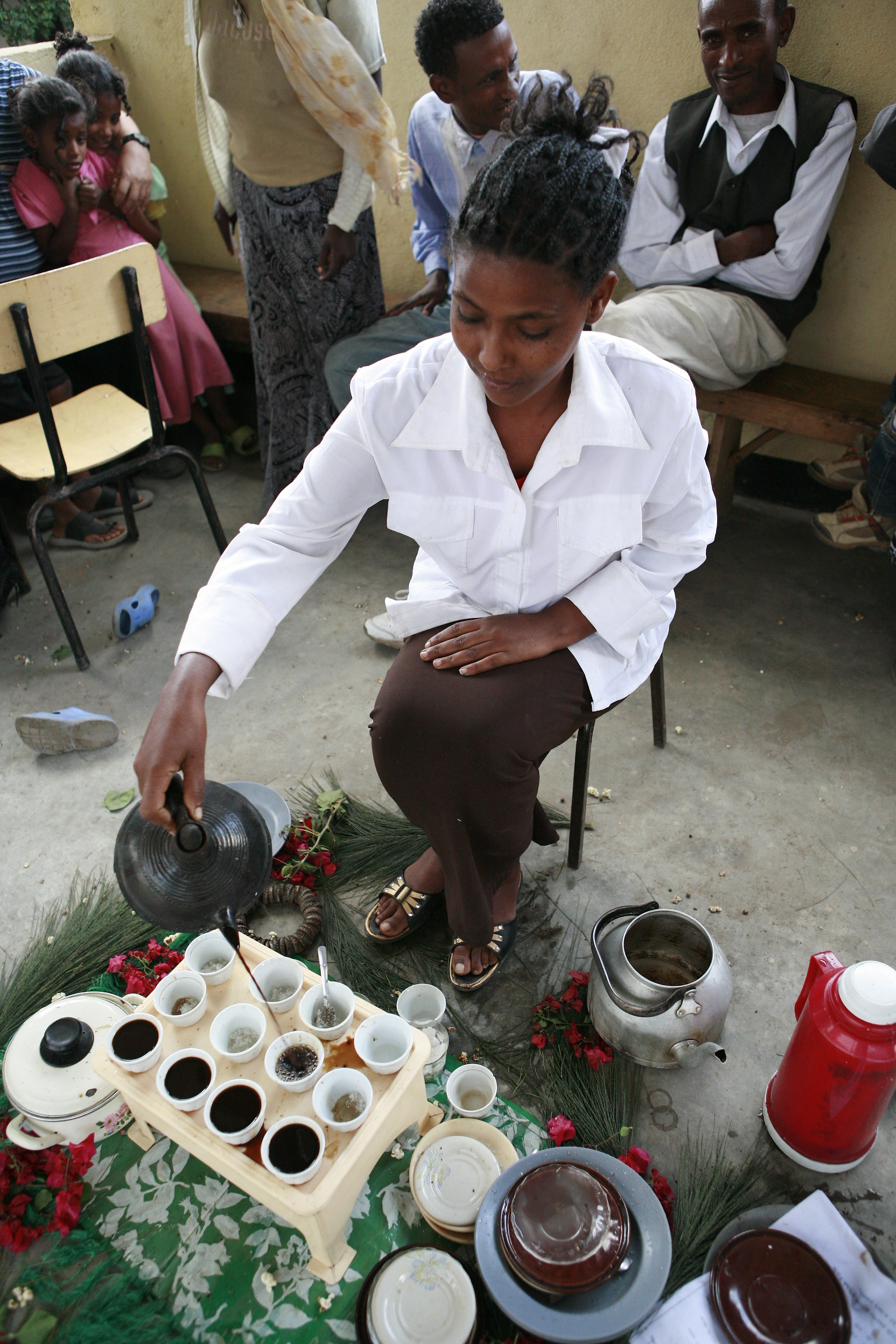 Ethiopian Coffee Ceremony 008 - Traditional Ceremony