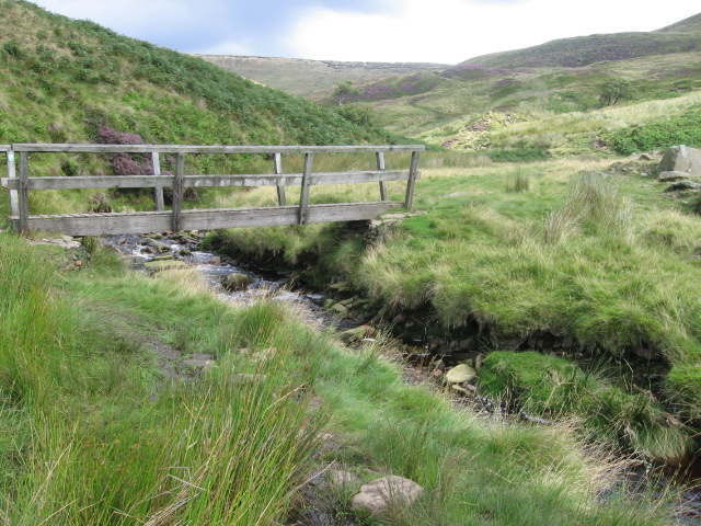 Footbridge over Shelf Brook - geograph.org.uk - 941552