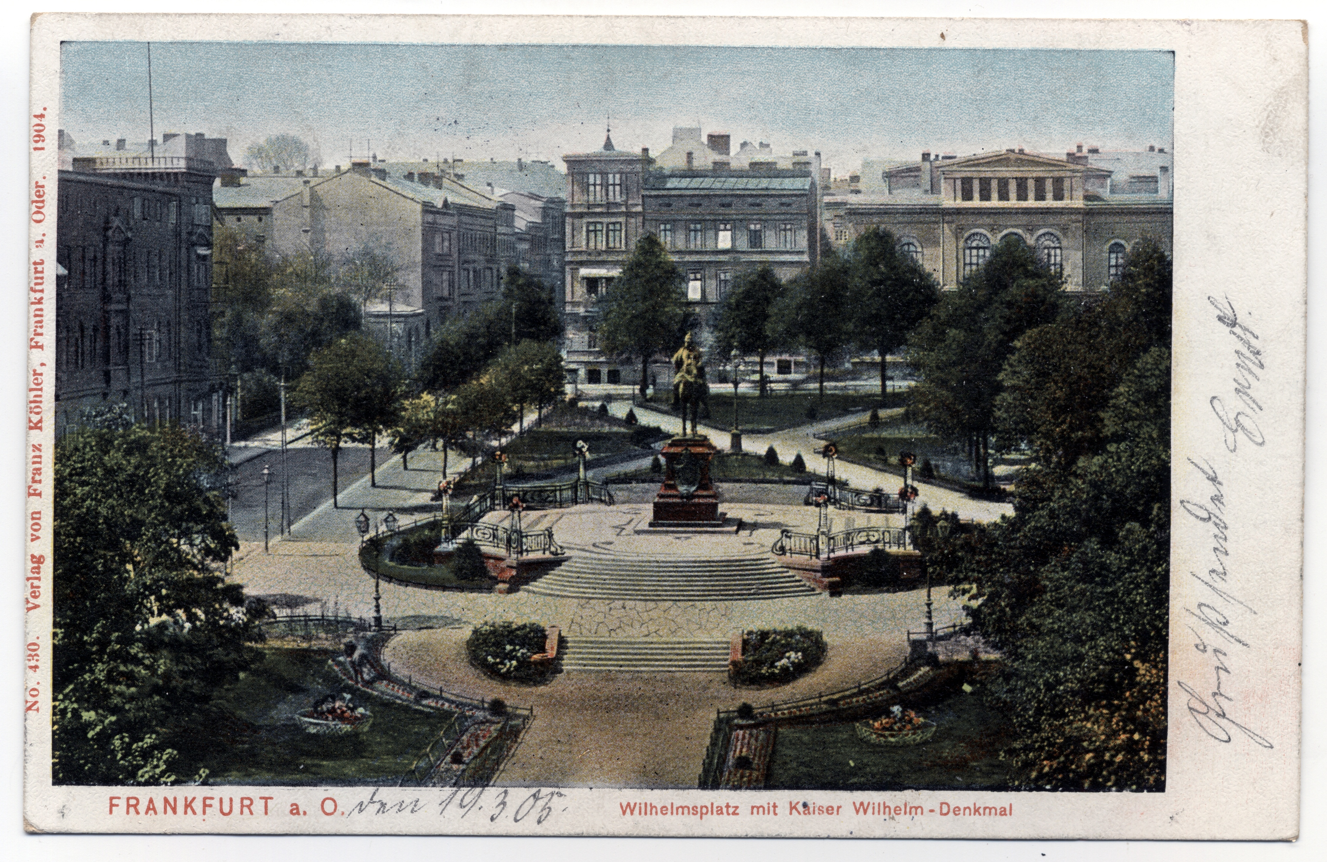 Filefrankfurt Oder Wilhelmsplatz 1904jpg Wikimedia Commons