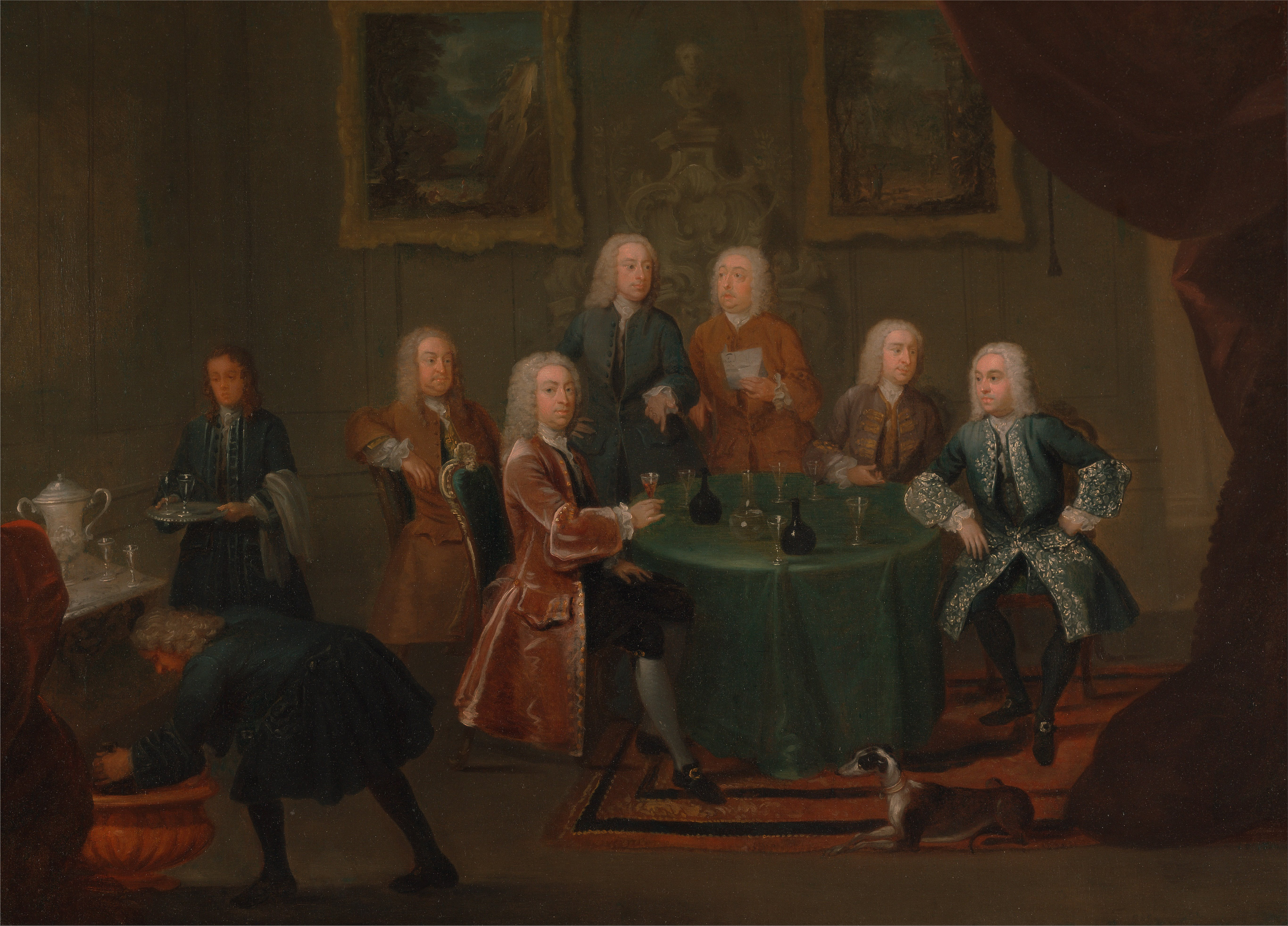 File gawen hamilton the brothers clarke with other for Painting while drinking wine