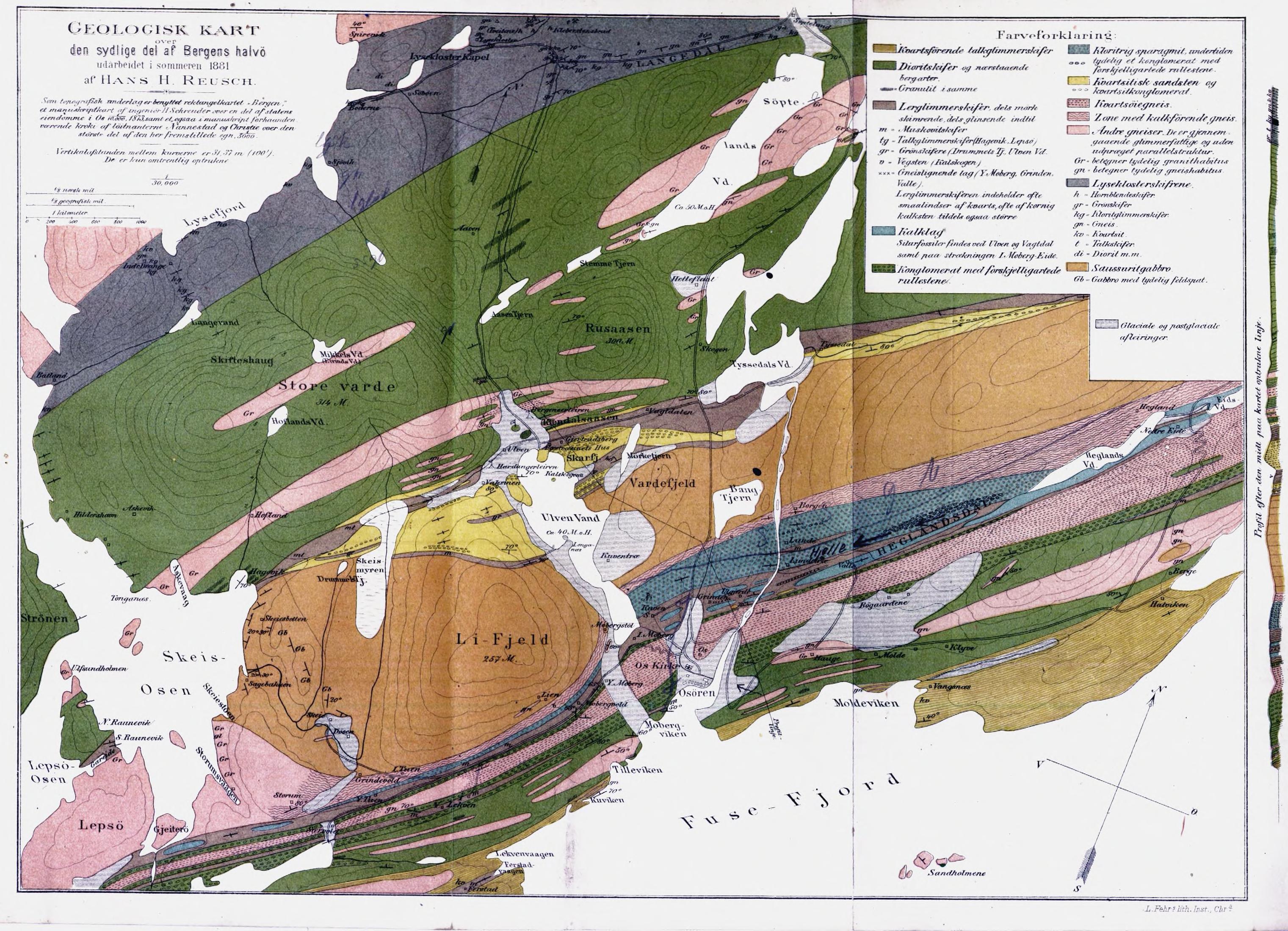 Veldig File:Geologisk kart over den sydlige del af Bergens halvø.jpg BV-91
