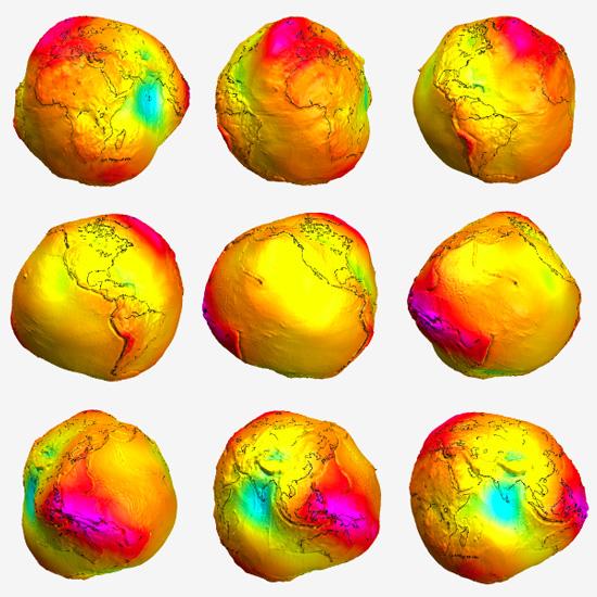 Gravitational inhomogenity of Earth
