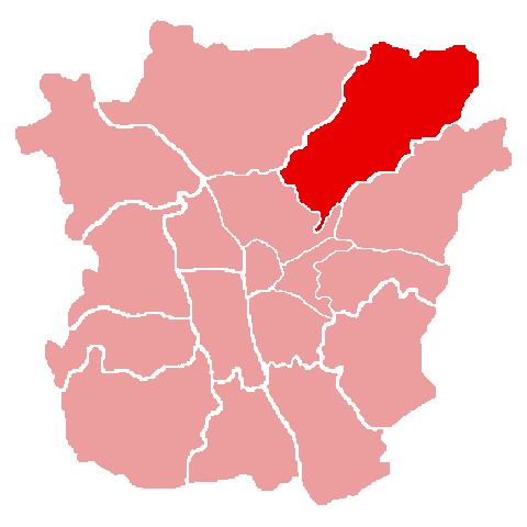 Lage des Bezirks Mariatrost