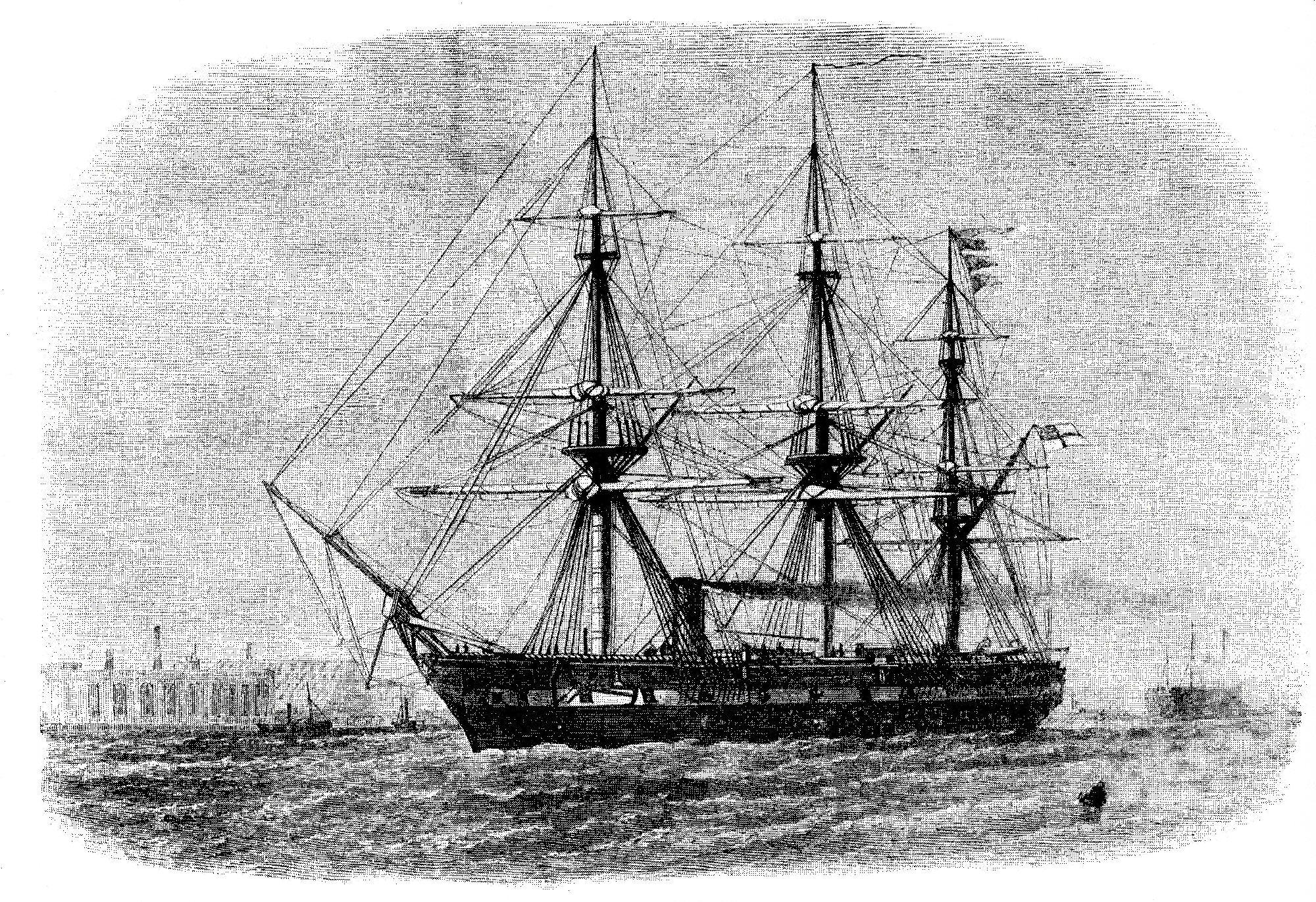 File Hms Challenger 1858 Jpg Wikimedia Commons
