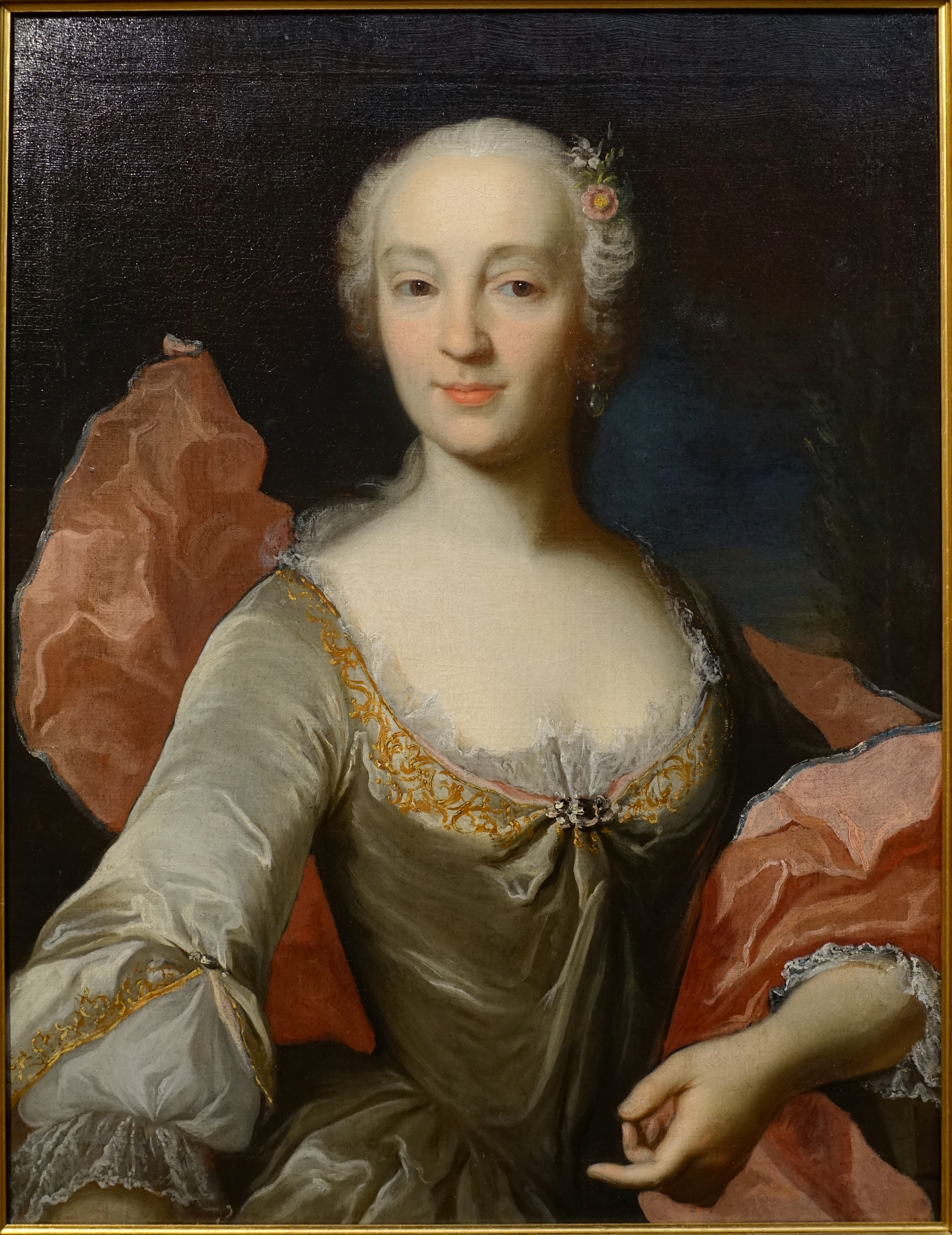 File:Half-length portrait of a young lady, artist unknown ...