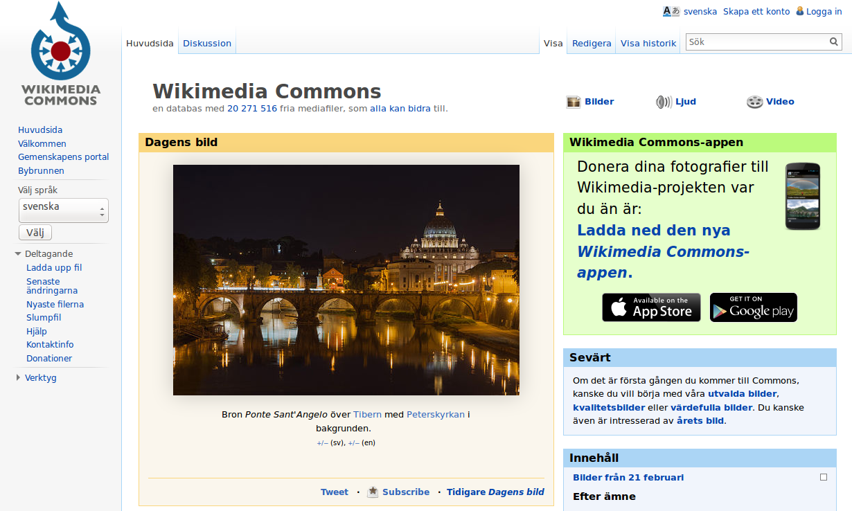File:Illustrating Wikipedia, Page 2, Commons Main Page-sv