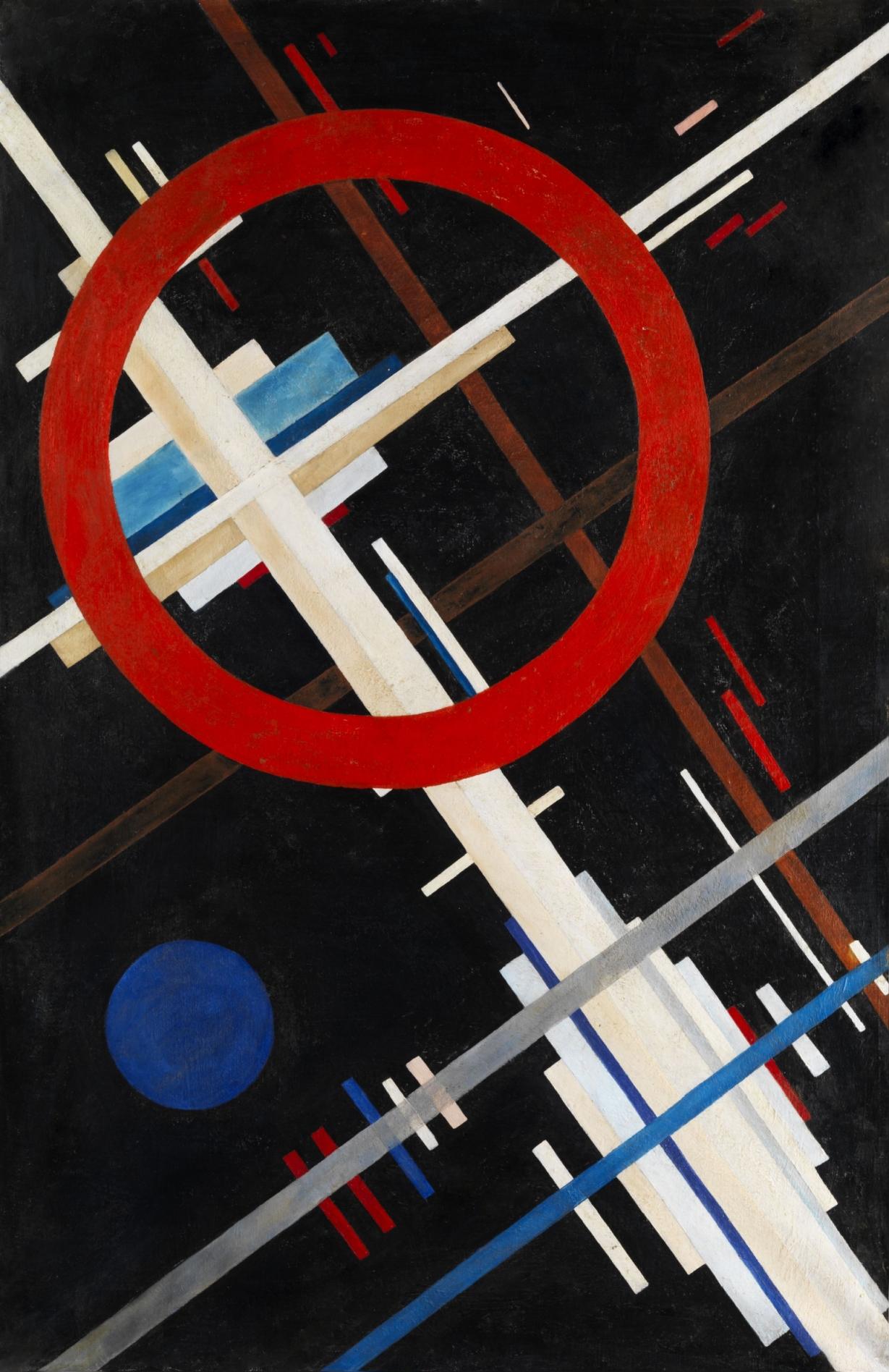 Ilya Chashnik (Илья Григорьевич Чашник) (1902 - 1929) Suprematist composition. Oil on canvas