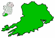 centerMap highlighting Cork