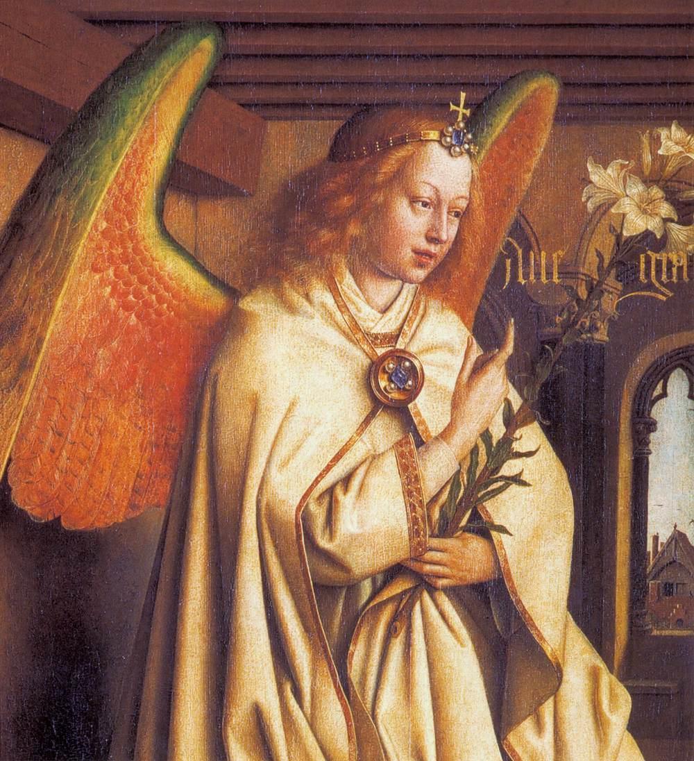 an analysis of the painting the ghent altarpiece by hubert van eyck Jan van eyck, a successful  in the painting of himself painting the painting the ghent altarpiece is a beautiful  altarpiece was started by hubert van eyck,.