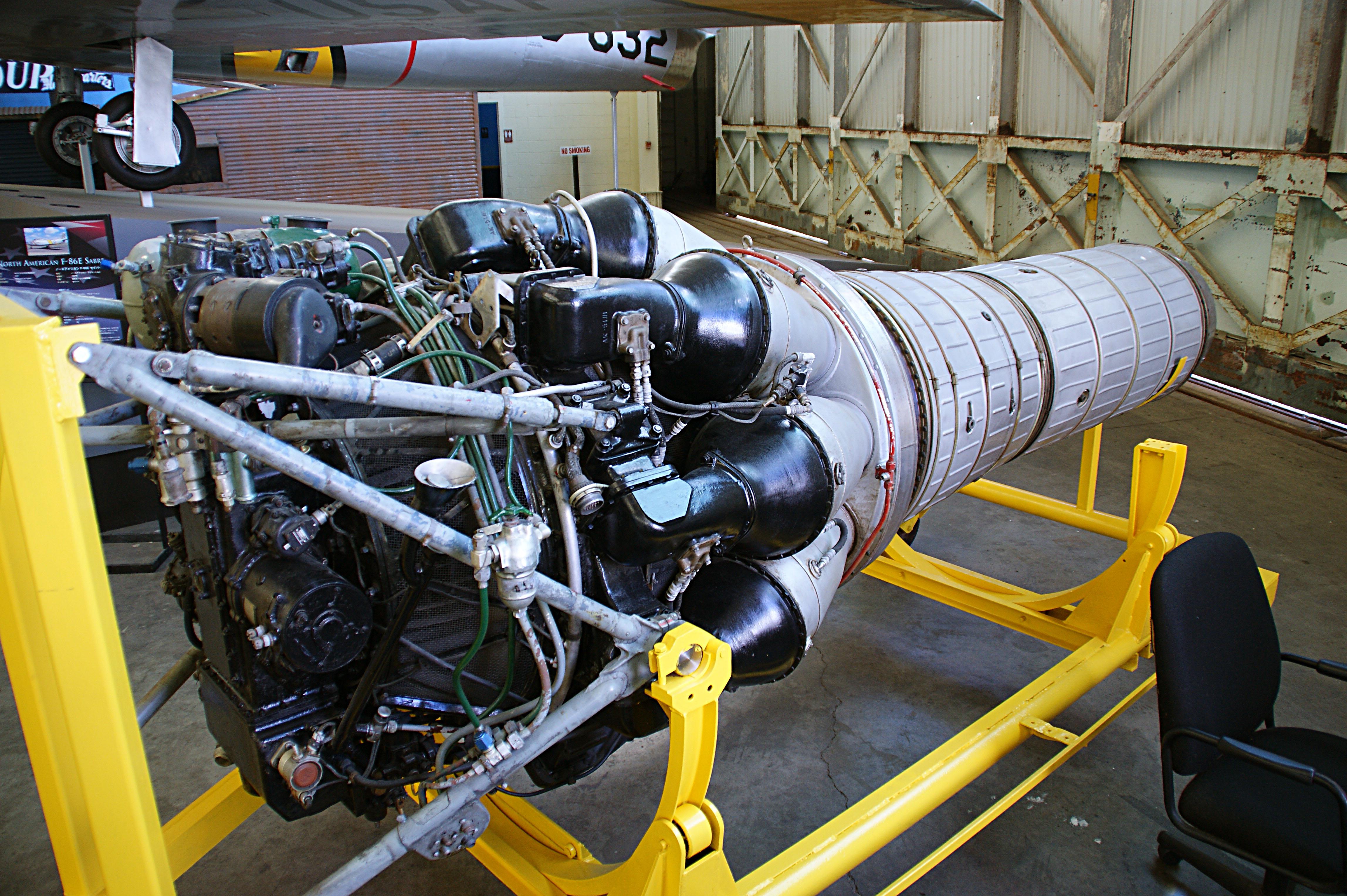 File Klimov VK 1 jet engine from MiG 15bis c n 1B front 3 4