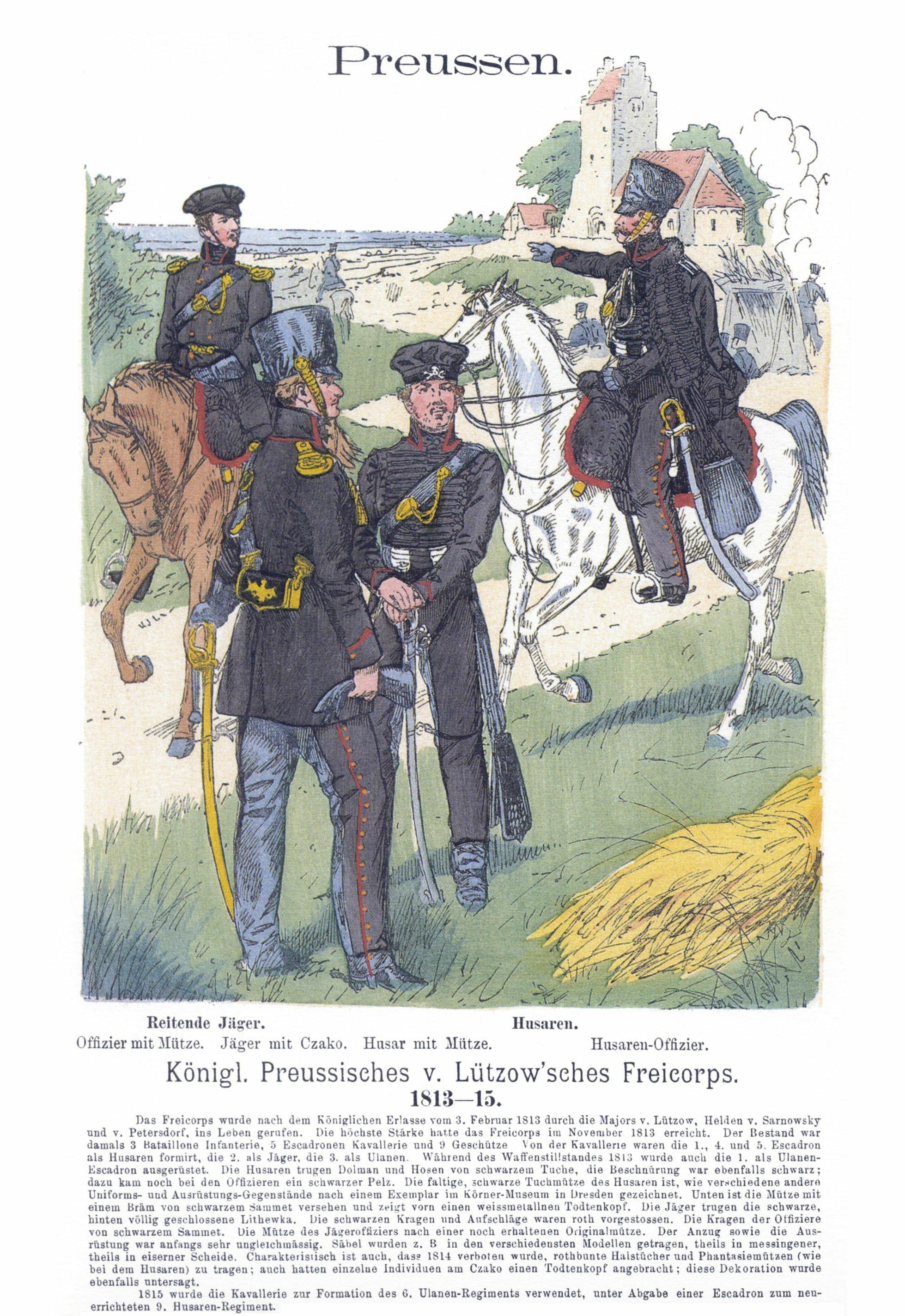 Uniformen des Lützowschen Freikorps