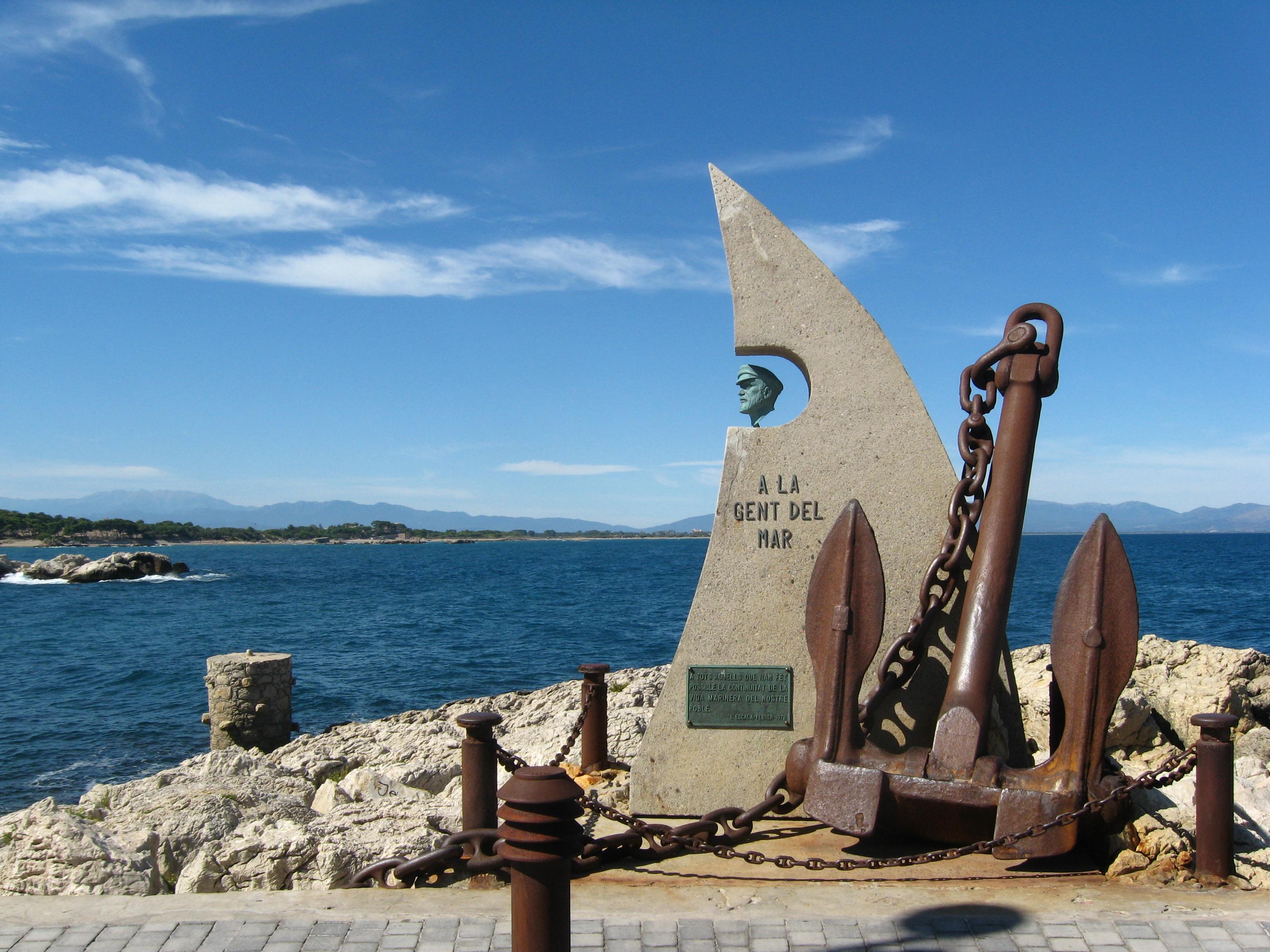 Description L'Escala Seefahrerdenkmal.jpg