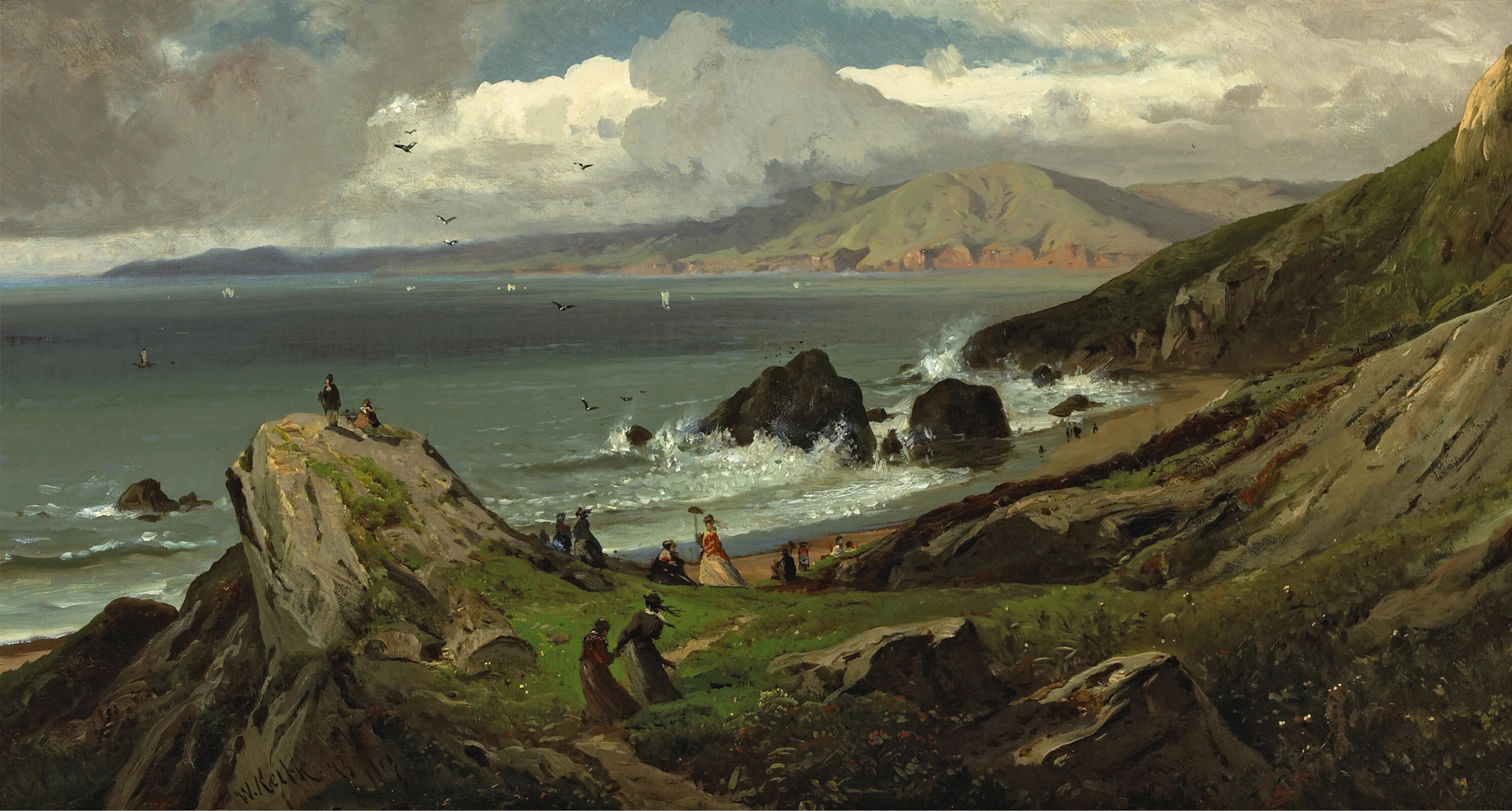 California landscape in art: William Keith, Land's End, ca. 1873, private collection