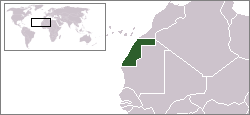 Location of Western Sahara