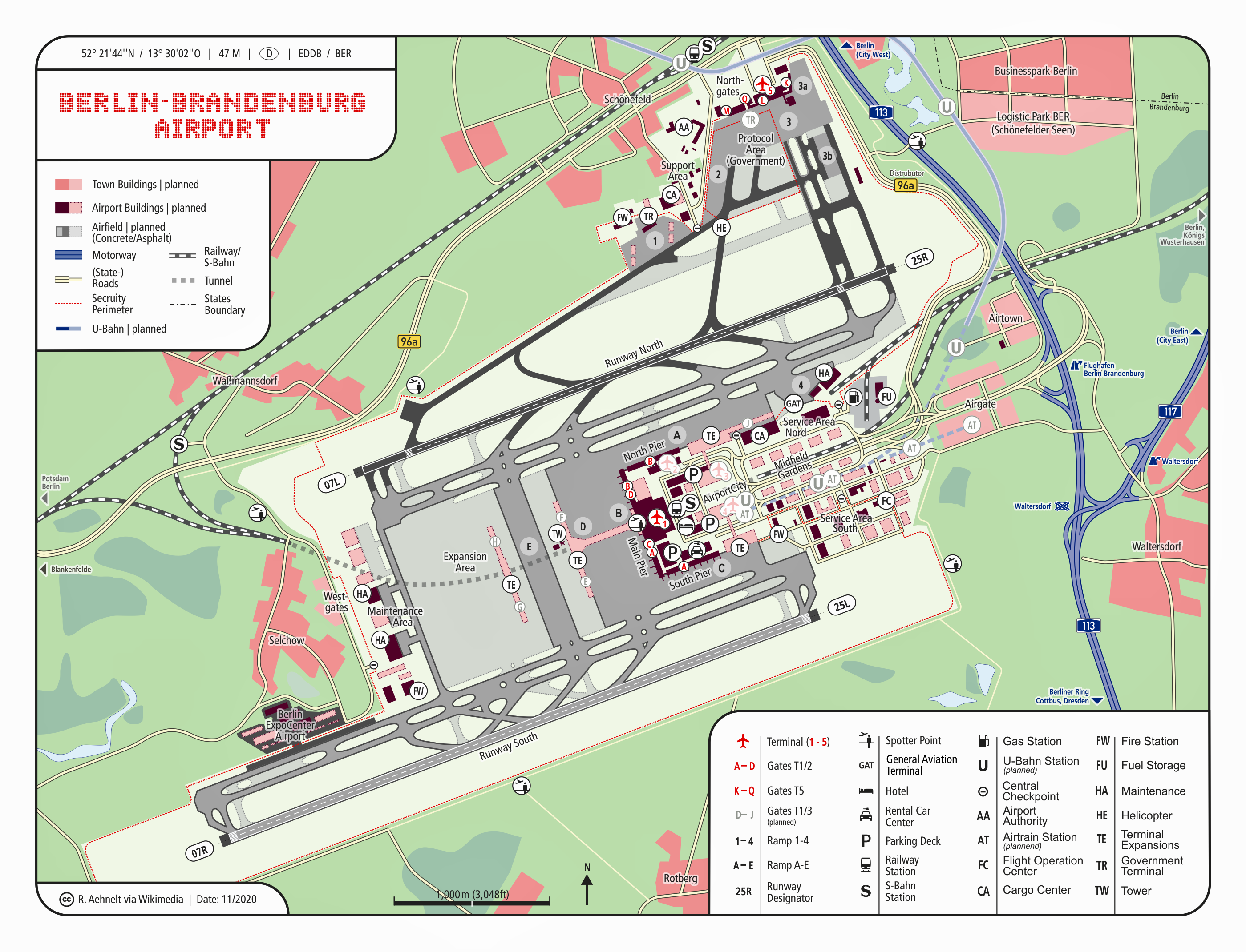 Berlin Schoenefeld Airport Map File:Map Berlin Brandenburg Airport.png   Wikimedia Commons