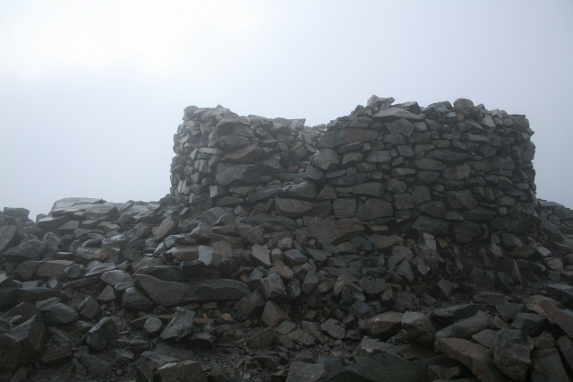 Memorial Cairn on Scafell Pike. - geograph.org.uk - 496212