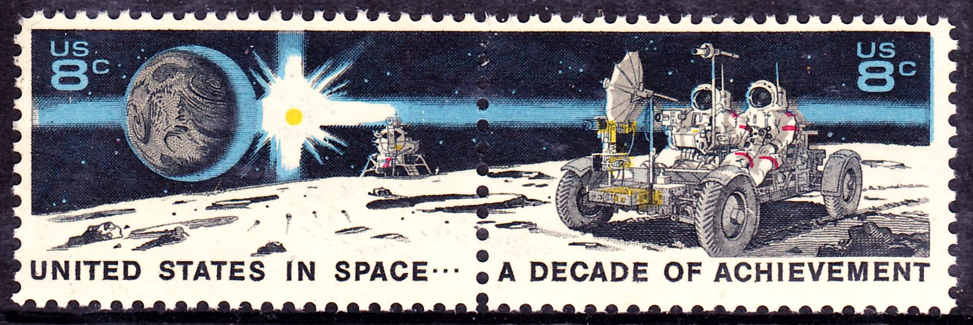 the first space shuttle on moon stamp - photo #42