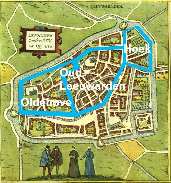 Drie delen van Leeuwarden