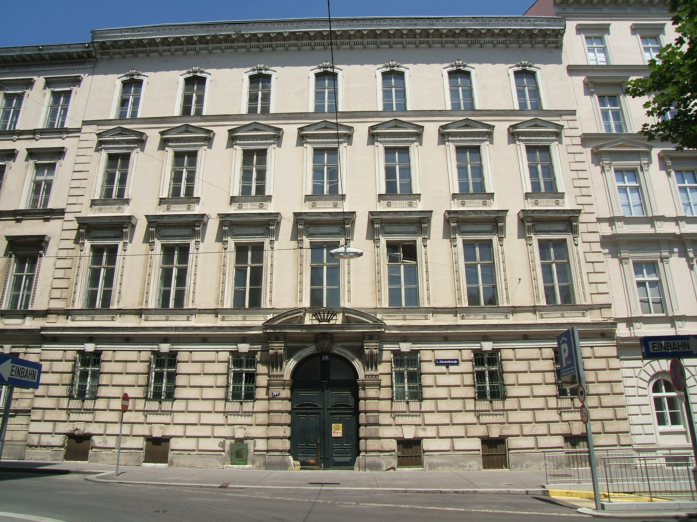 Zeitweise Wohnort In Wien, Elisabethstraße 18