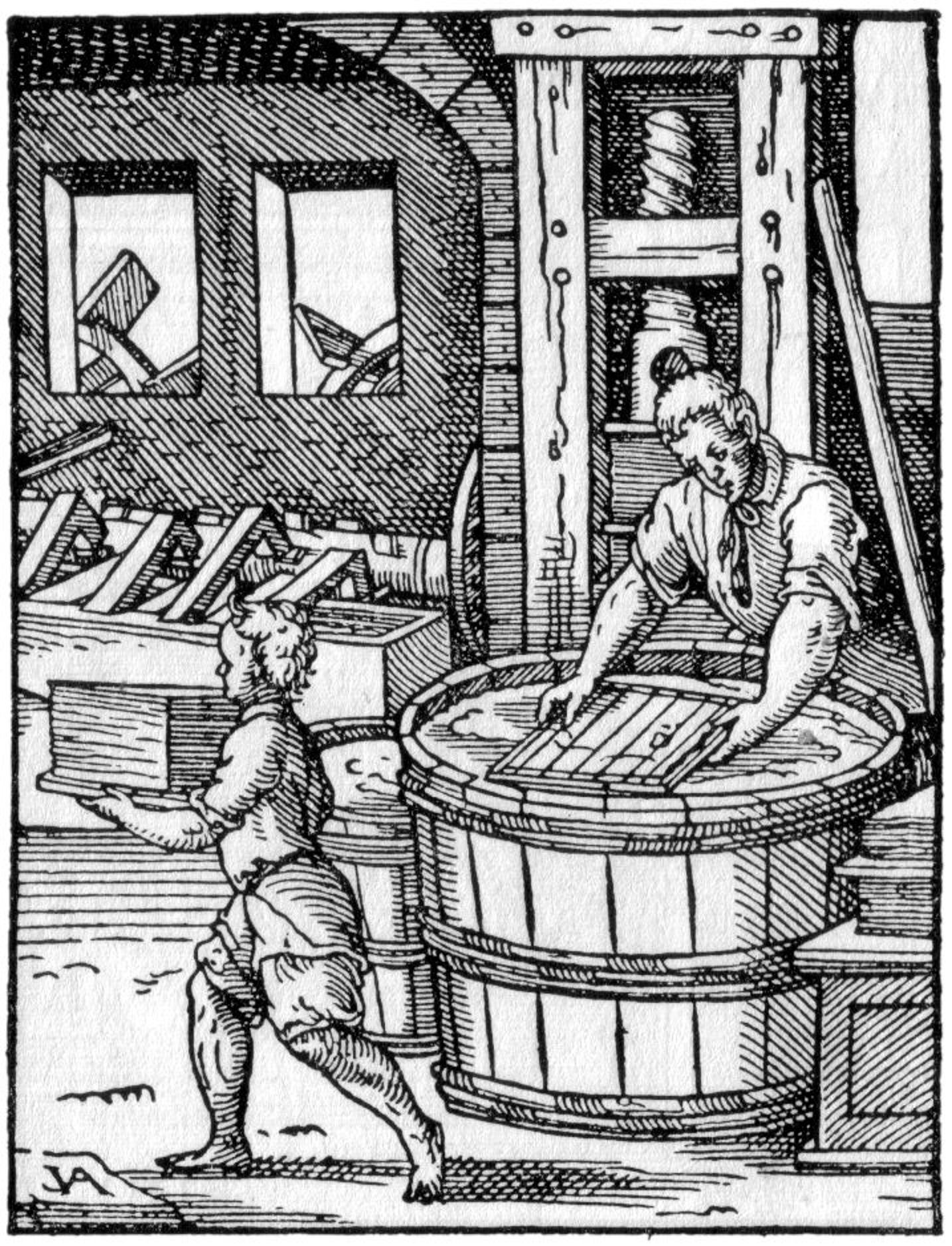 Der Papyrer Holzschnitt aus: Jost Amman (1539-1591)