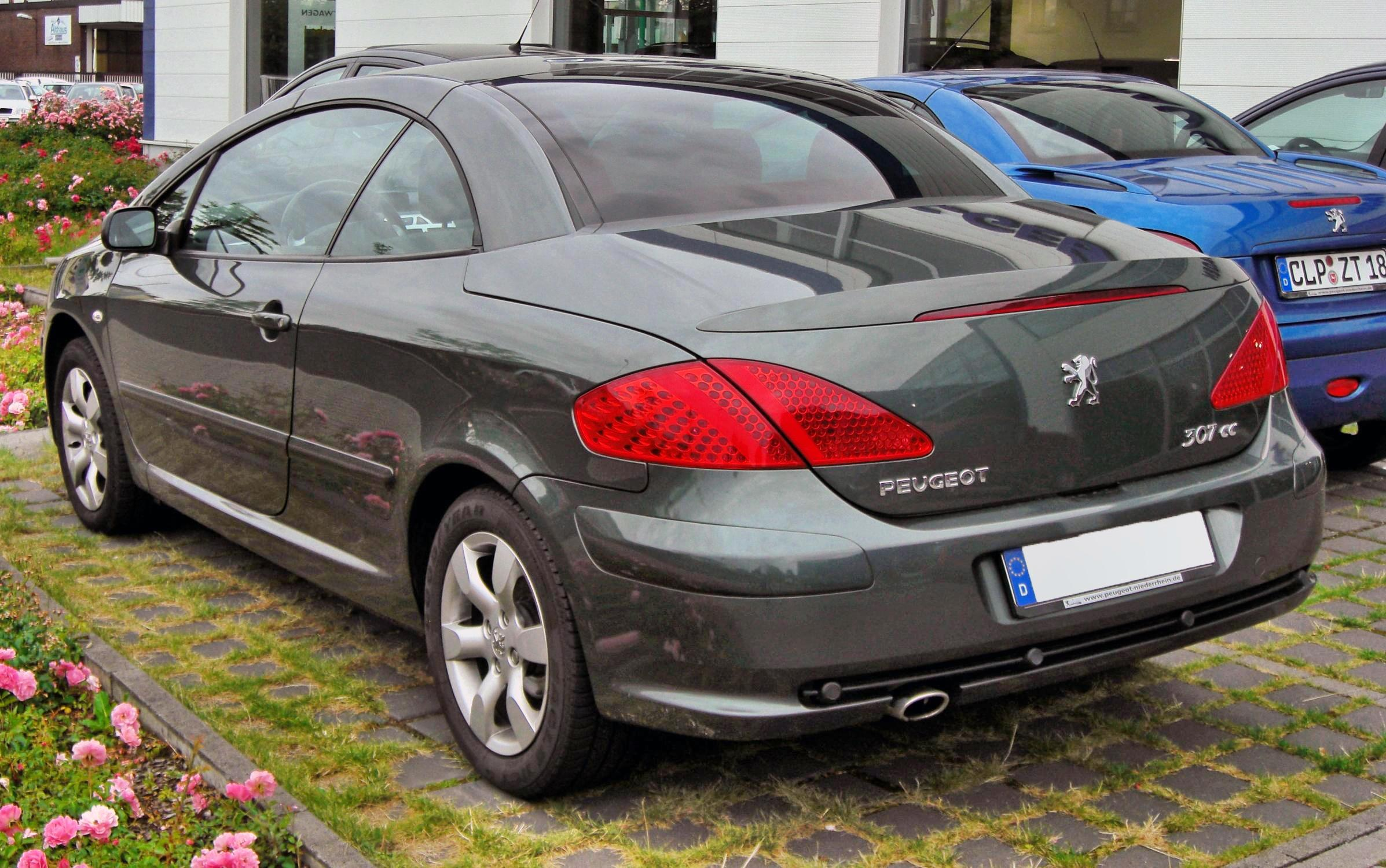 file peugeot 307 cc facelift 20090620 rear jpg wikimedia. Black Bedroom Furniture Sets. Home Design Ideas
