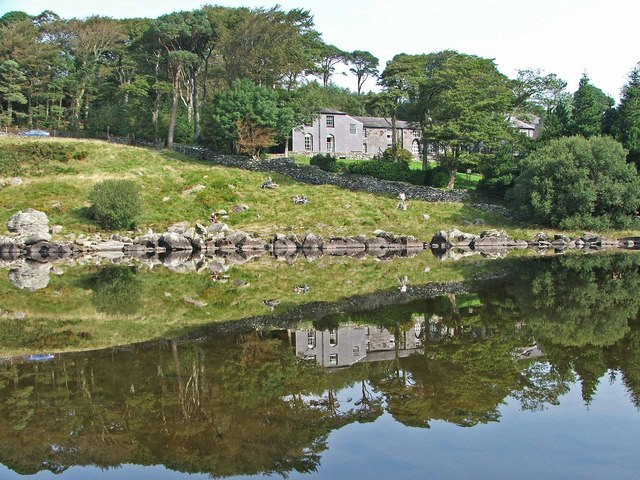 Plas y Brenin, reflected - geograph.org.uk - 972931