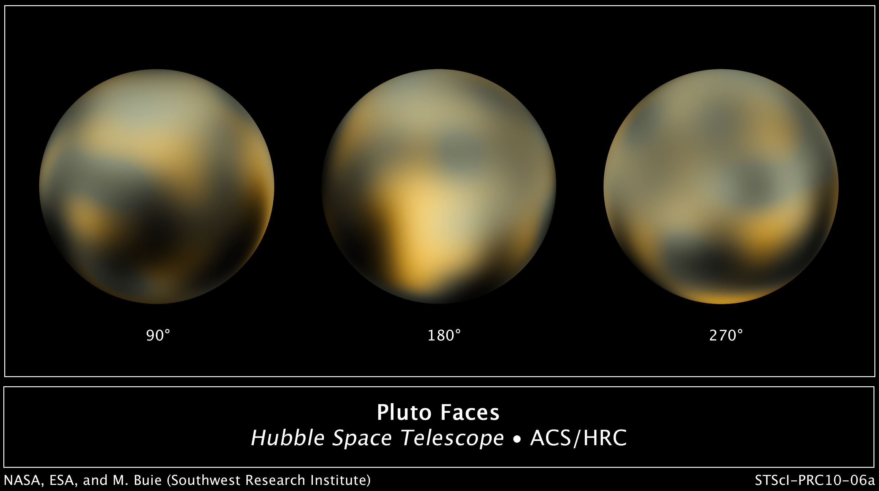 Real Pictures Of Pluto From Space