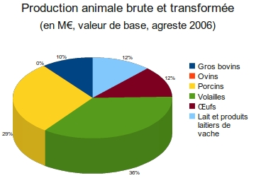 Production animale brute et transformée annuelle de La Réunion