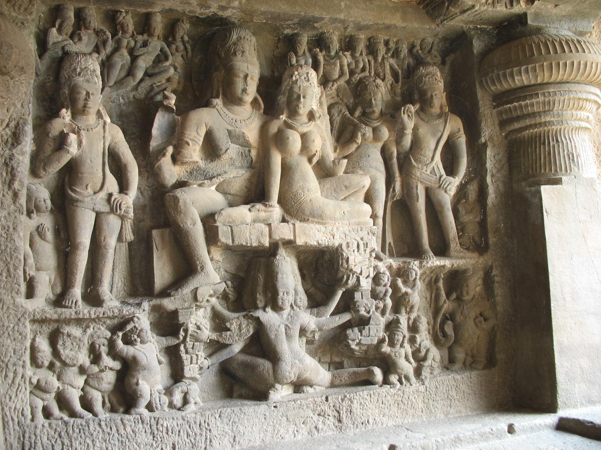 File:Ravan Anugrah Murti, Ellora jpg - Wikimedia Commons