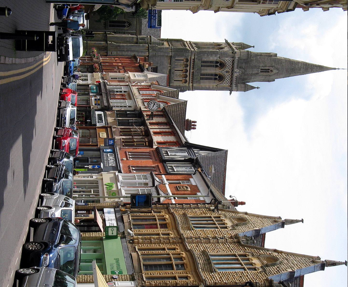 Regent Street with St Andrews Church, Rugby