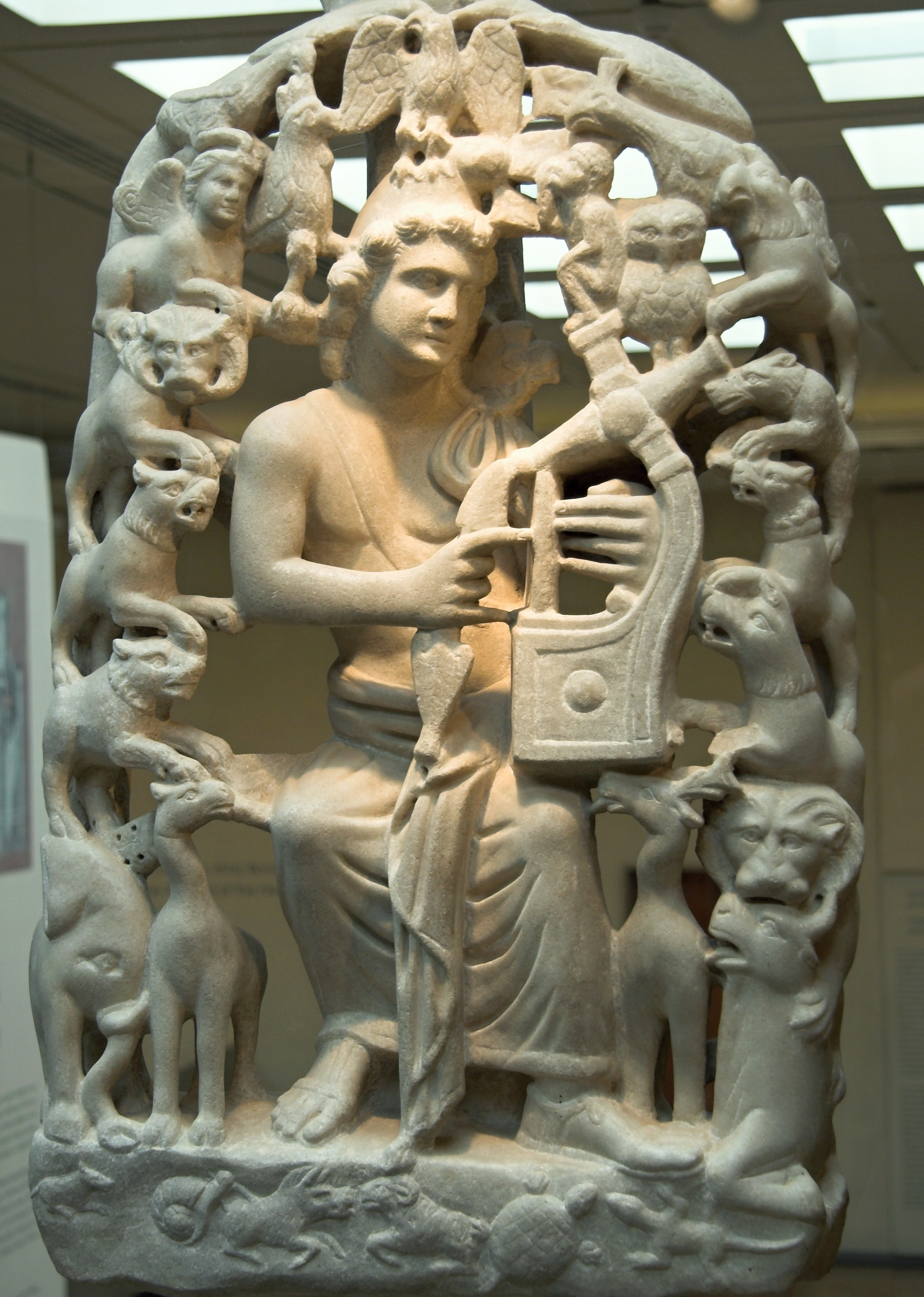 File Relief Marble Orpheus With Lyre And Animals 4 Ad