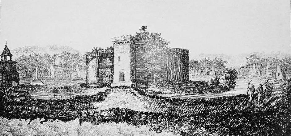 Sketch of castle with tolbooth