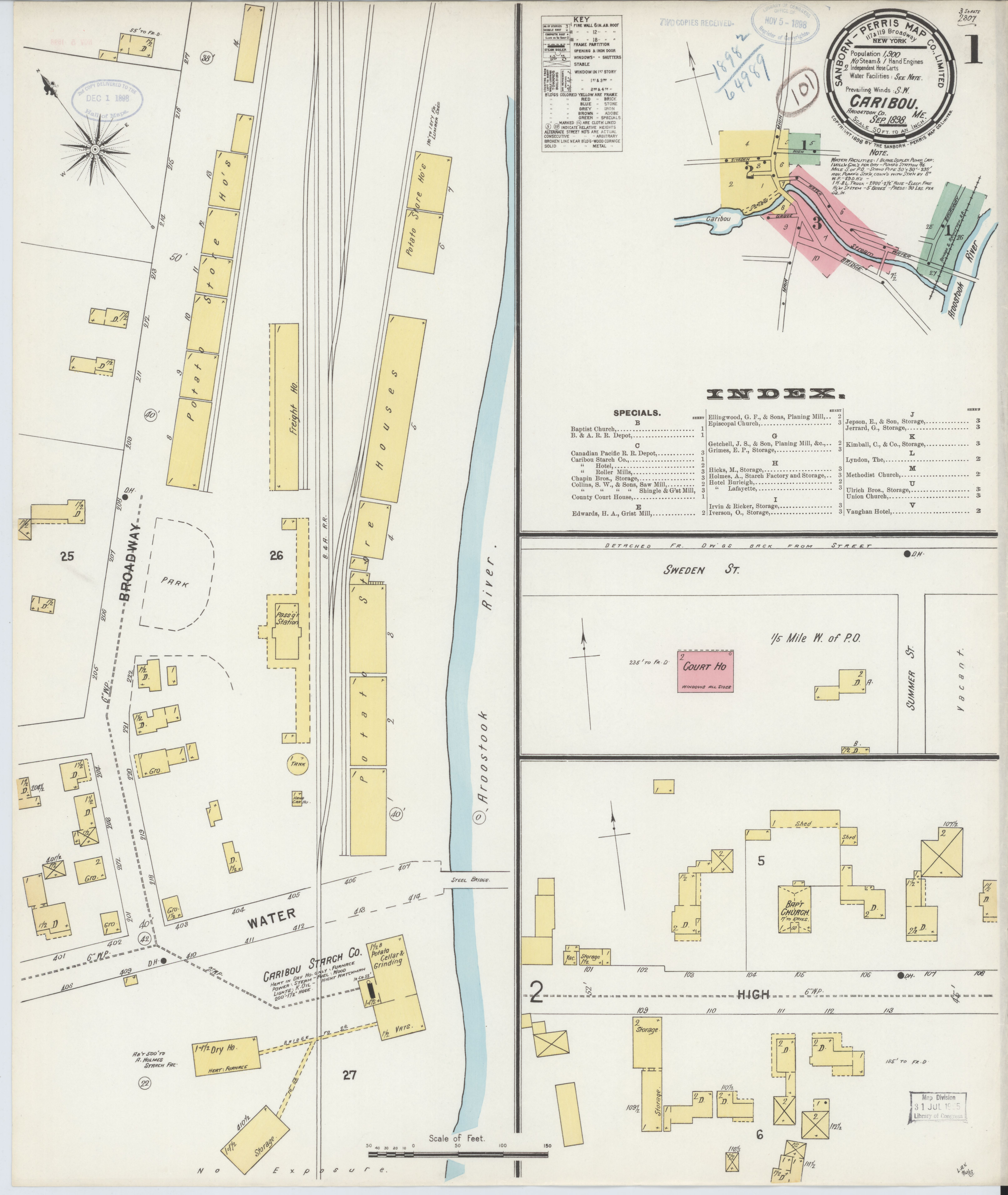 File Sanborn Fire Insurance Map From Caribou Aroostook County