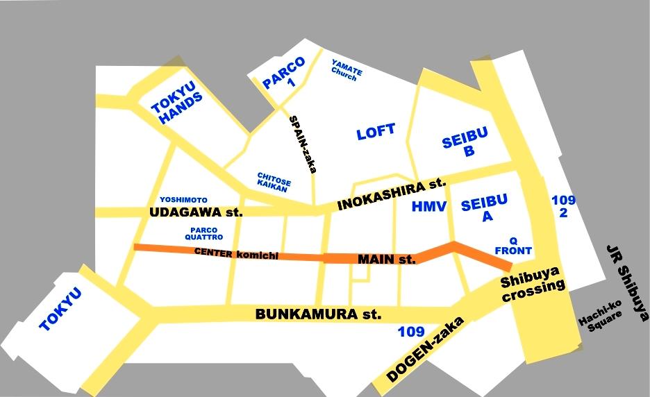 Center GAI Shibuya Map