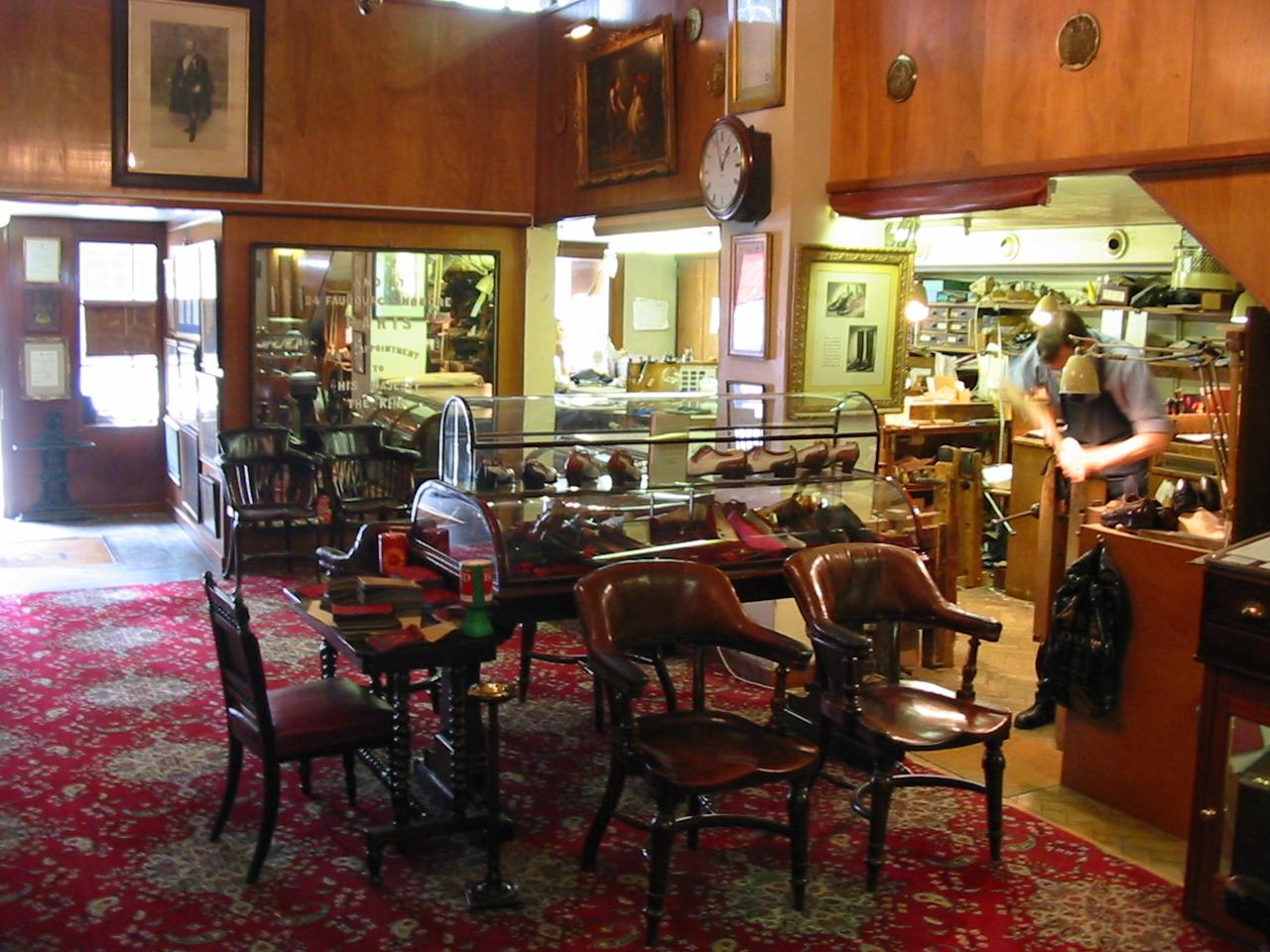 John Lobb Shoes >> File:Shop interior of John Lobb, bespoke shoe and ...